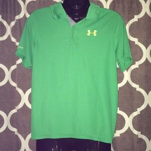 Youth L Under Armour Polo Short  Sleeve Shirt.